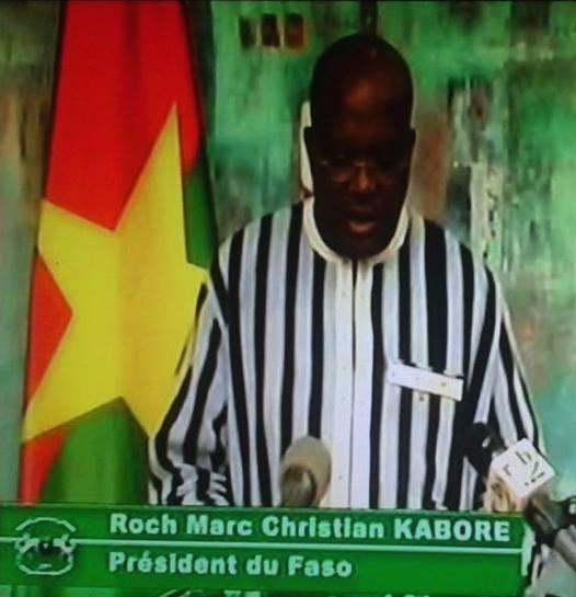 Roch Marc Christian Kabore a condamné les attaques terroristes contre le Burkina