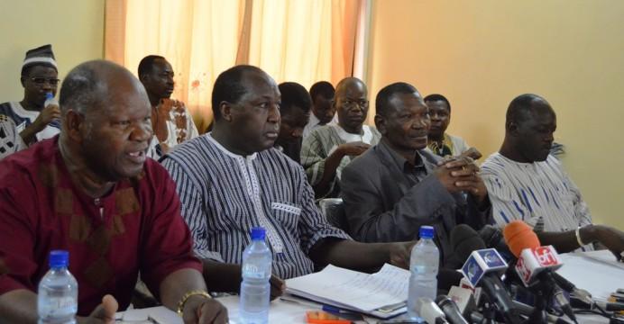 Le présidium de la conférence de presse animée ce jeudi par le Chef de file de l'opposition politique burkinabè