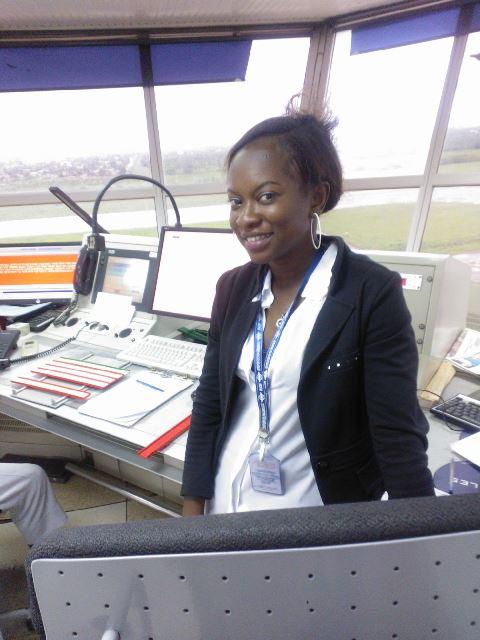 Diane Rosine Monique Gorou est heureuse d'exercer le métier de contrôleur de la circulation aérienne