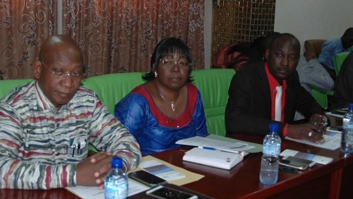 Plusieurs PTF étaient représentés à la rencontre par leur premier responsable ; l'on reconnaît ici le directeur général de la SONABEL, François de Salle Ouédraogo (1er à partir de la gauche)