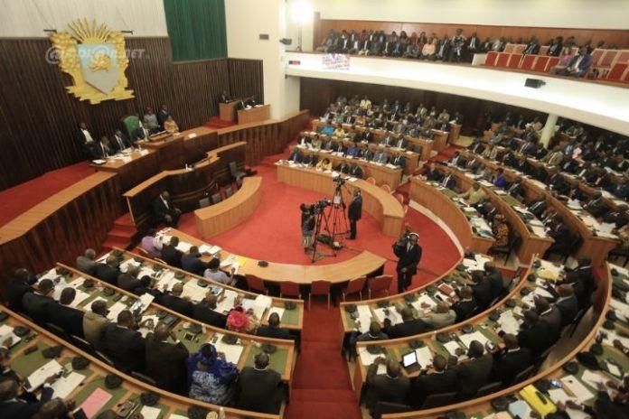 Les députés ivoiriens au cours de la session plénière consacrée à l'adoption de l'avant-projet de constitution