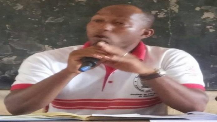 Le  président de l'Organisation démocratique de la jeunesse(ODJ/Tuy) Brahima Diabaté