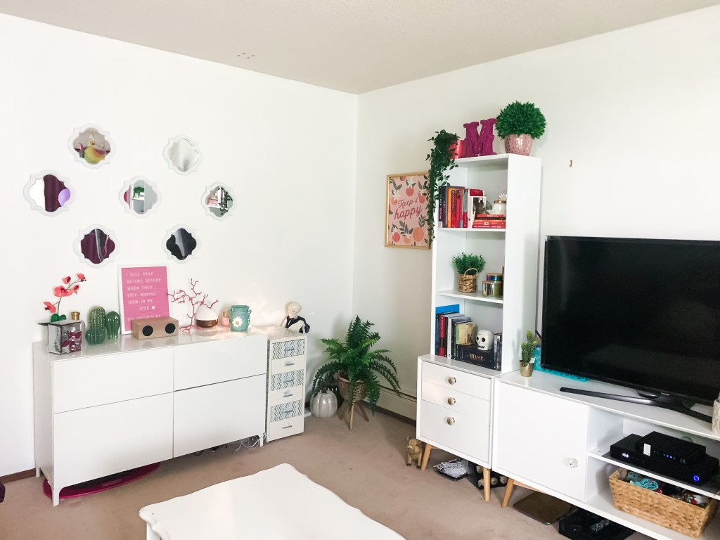 My Sister's Colorful Apartment Refresh | Burk & Co.