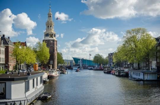 Oudeschans with Montelbaanstoren, Amsterdam, Netherlands