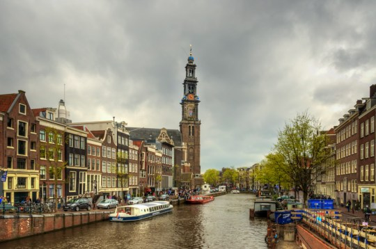 Prinsengracht and Westerkerk, Amsterdam, Netherlands