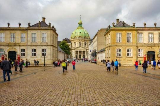 Amalienborg Palace Square and Frederiks (Marble) Church, Copenhagen