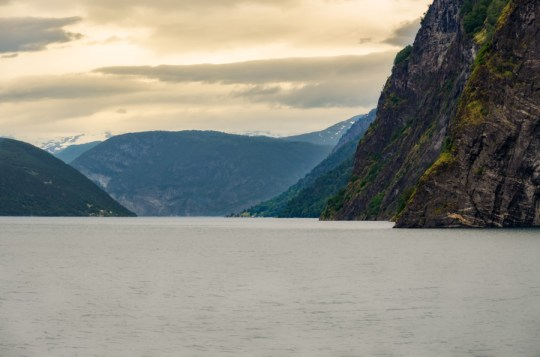Cruising on Aurlandsfjord, Norway