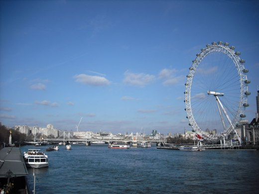 Thames view from the Westminster Bridge