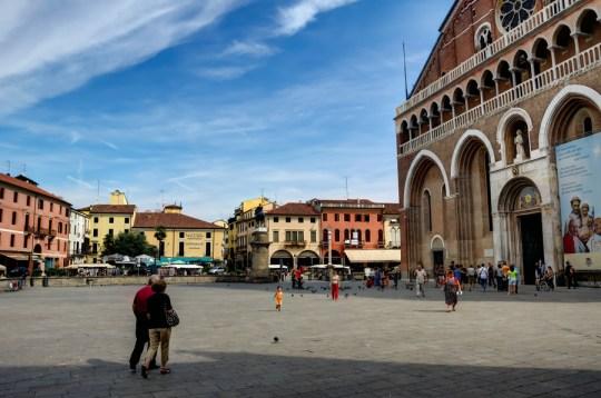 Piazza del Santo and Basilica San Antonio, Padua, Italy