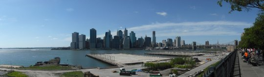 View of Lower Manhattan from Brooklyn Heights Promenade