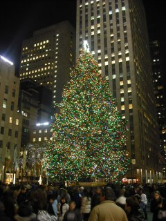 Christmas Tree in Rockefeller Plaza, New York
