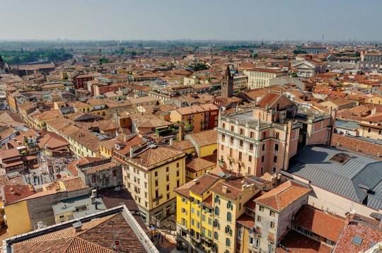Rooftop view of Verona, Italy