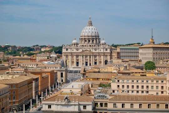 St Peter Basilica as seen from Castel Sant-Angelo, Rome