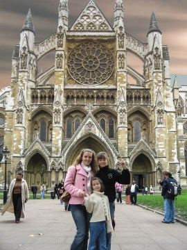 In front of Westminster Abbey, London