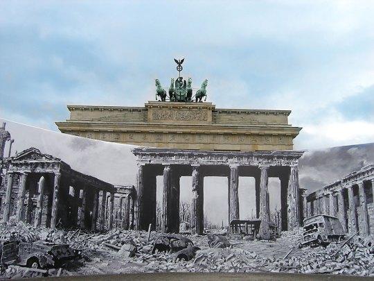 Brandenburg Gate, now and then, Berlin