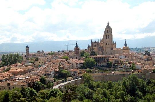 View over Segovia from Alcazar