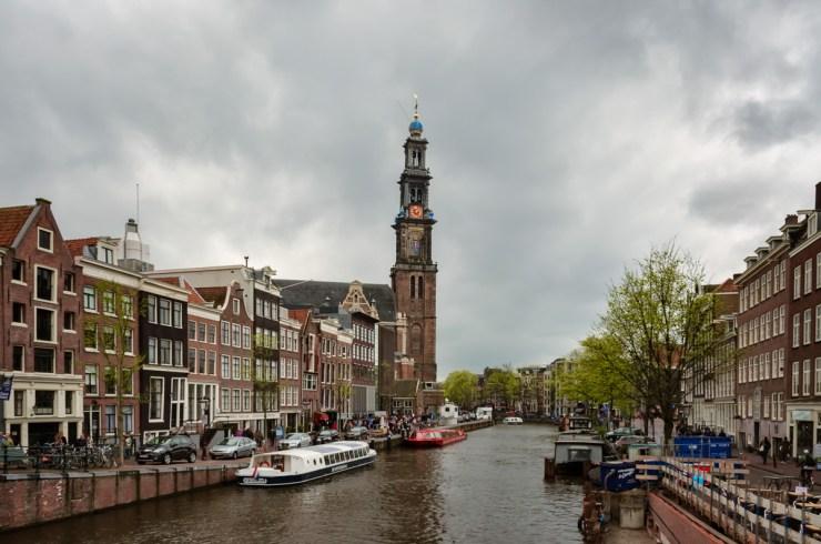 Prinsengracht and Westerkerk, Amsterdam