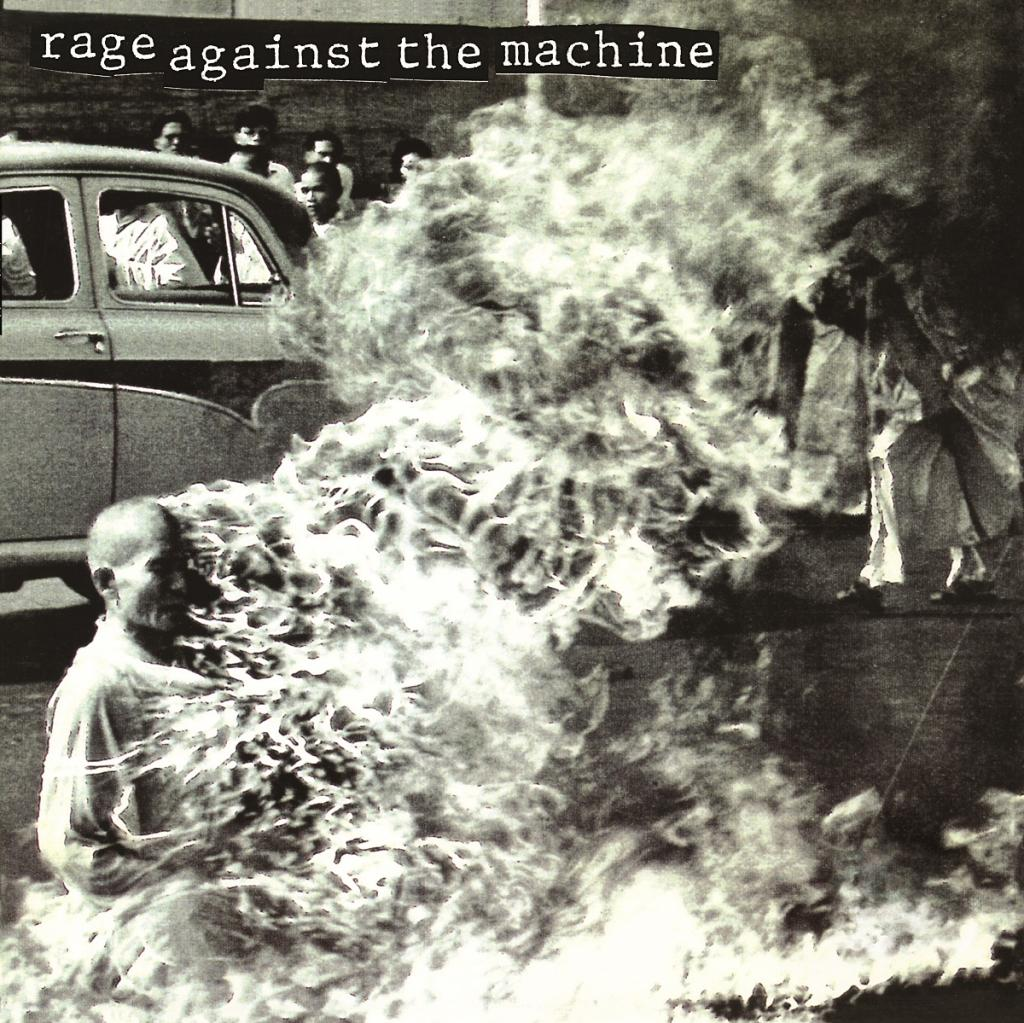 Image result for rage against the machine album cover