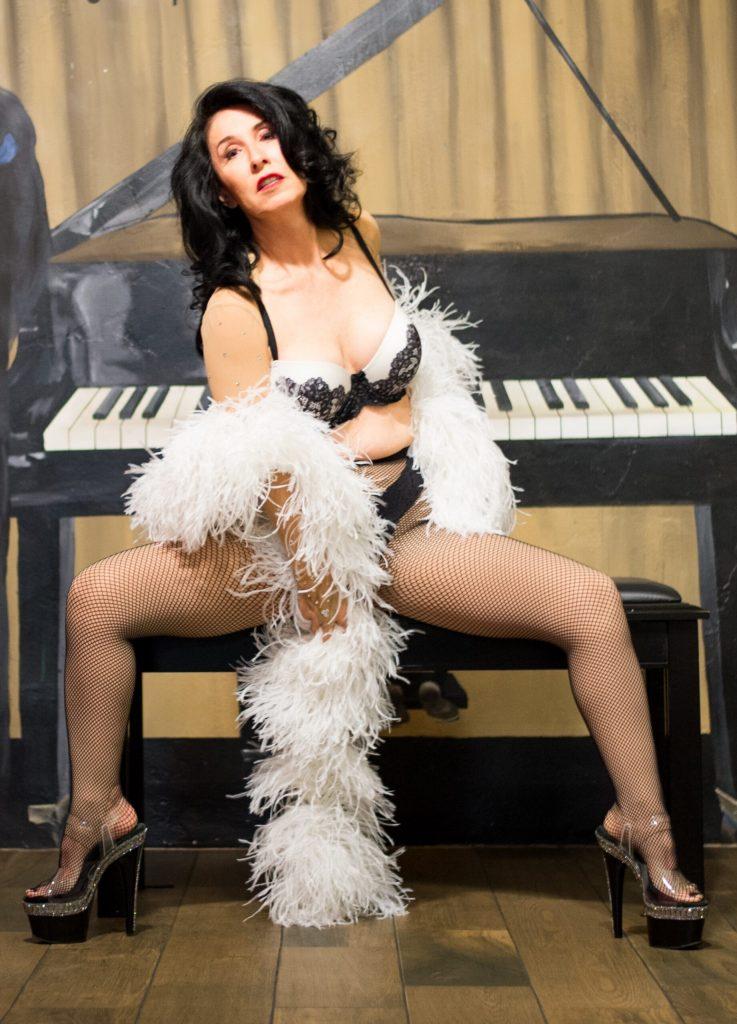 Lillian DuJour at the piano