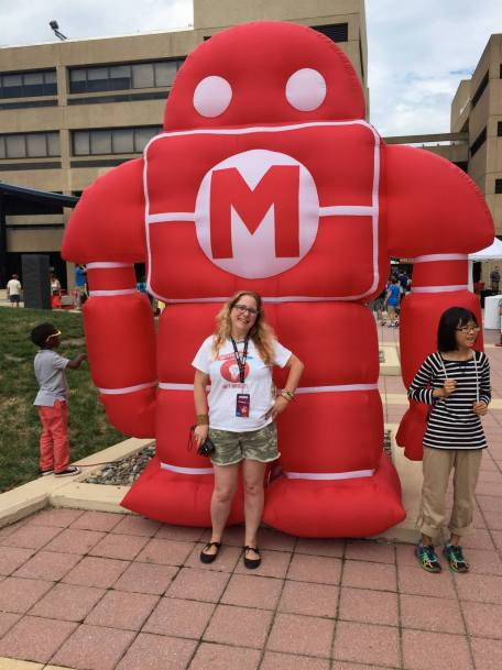 Ilsa at the 2016 National Maker Faire in Washington DC