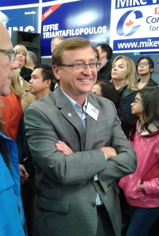 Mike at Stephen Harper rally 2015