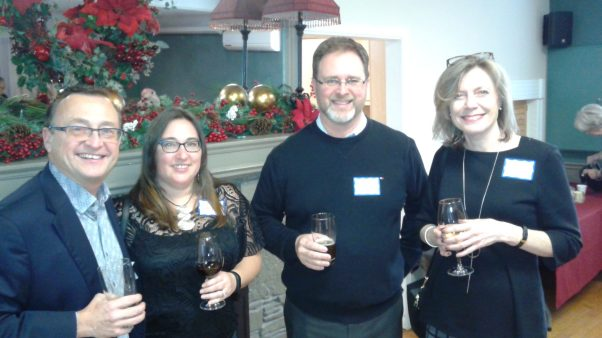 ...more Christmas Party mingling, Dec. 2017