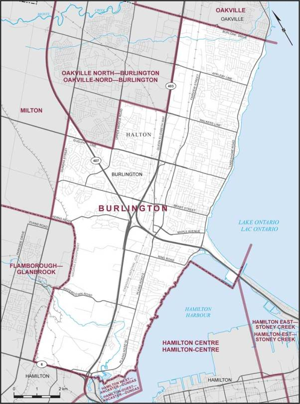 Burlington Riding Map