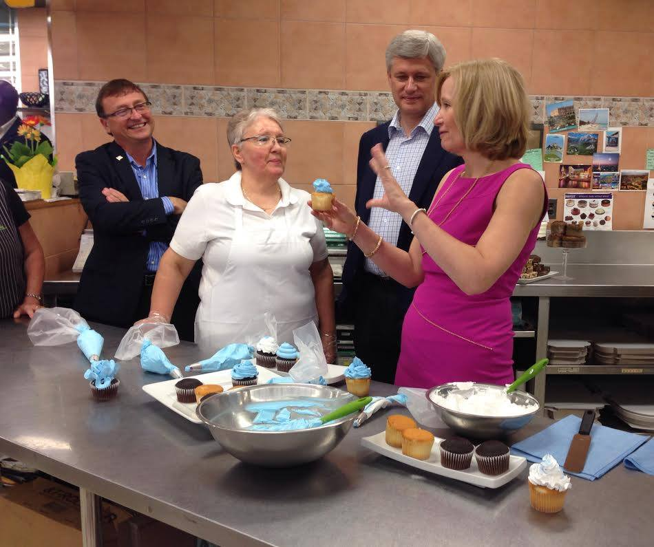 Stephen & Laureen Harper with Mike at Marilu's Sept. 2015