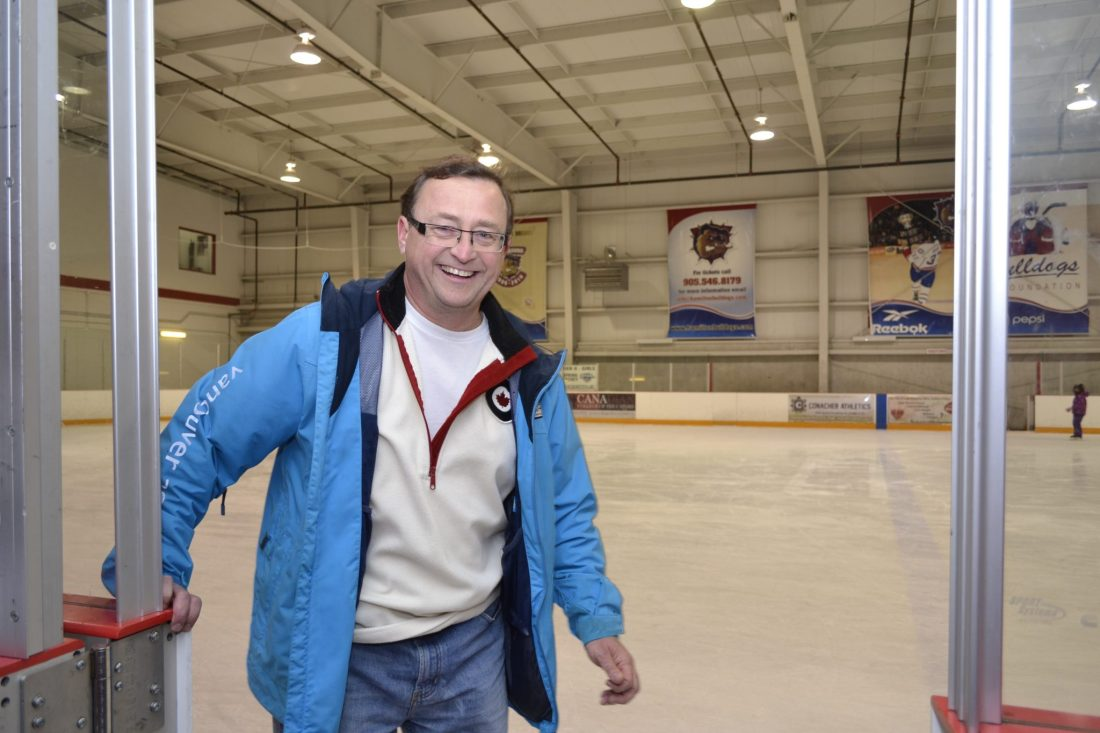 Mike on the ice! BCA Christmas Skate 2013