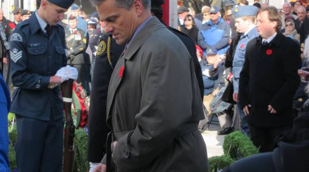 Ron at Remebrance Day 2016
