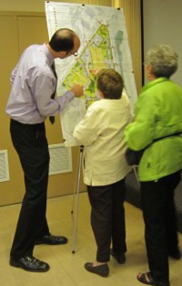 Site Planning co-coordinator Jamie Tellier explans what is going to be built whereon the JBMH campus.