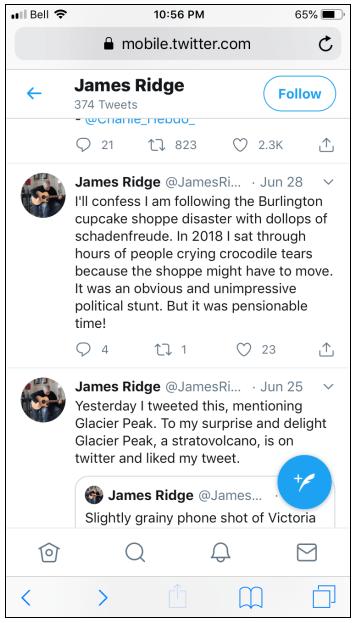 Ridge tweet