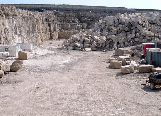quarry floor