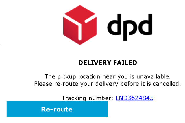 Scam delivery failed