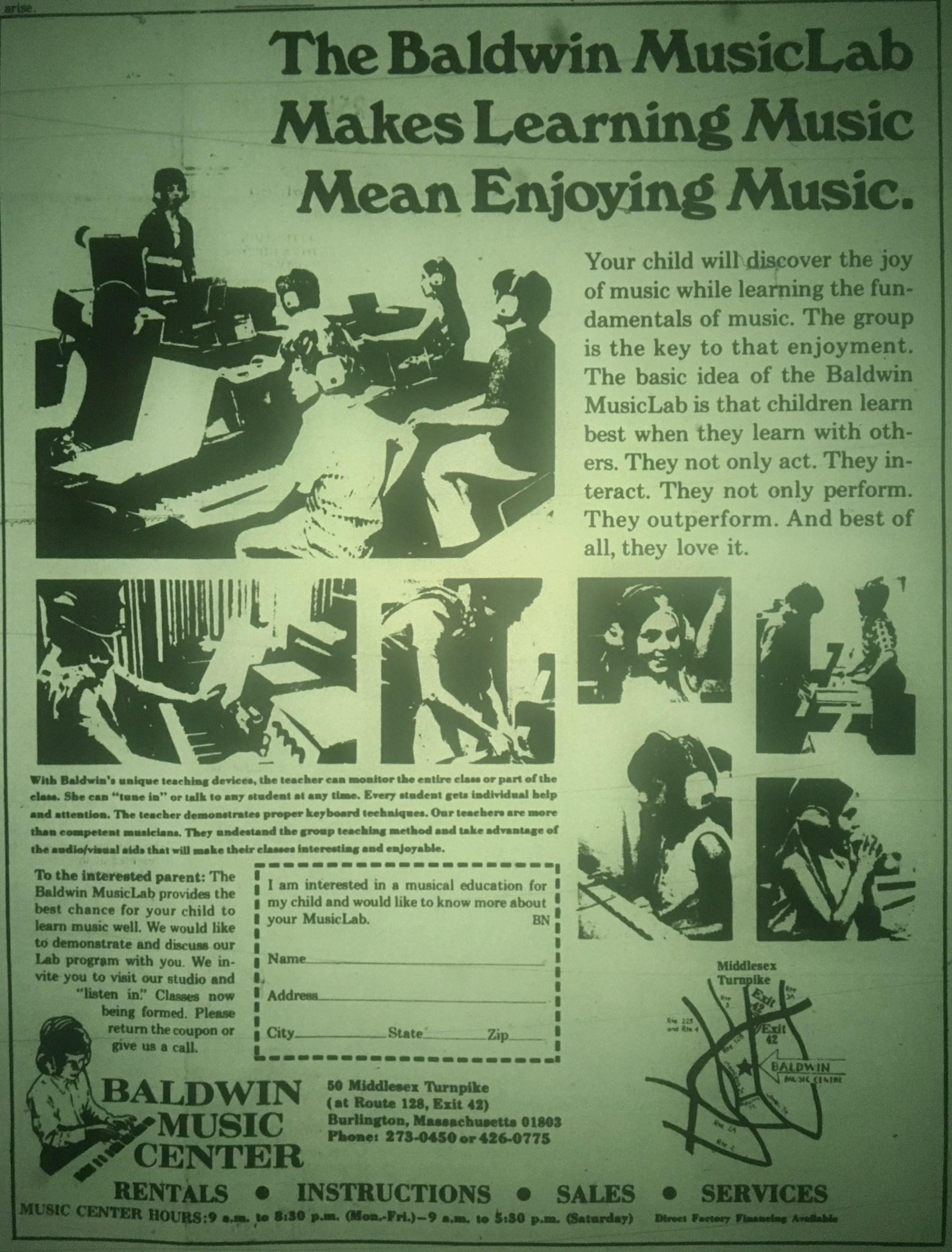 Baldwin MusicLab Burlington MA