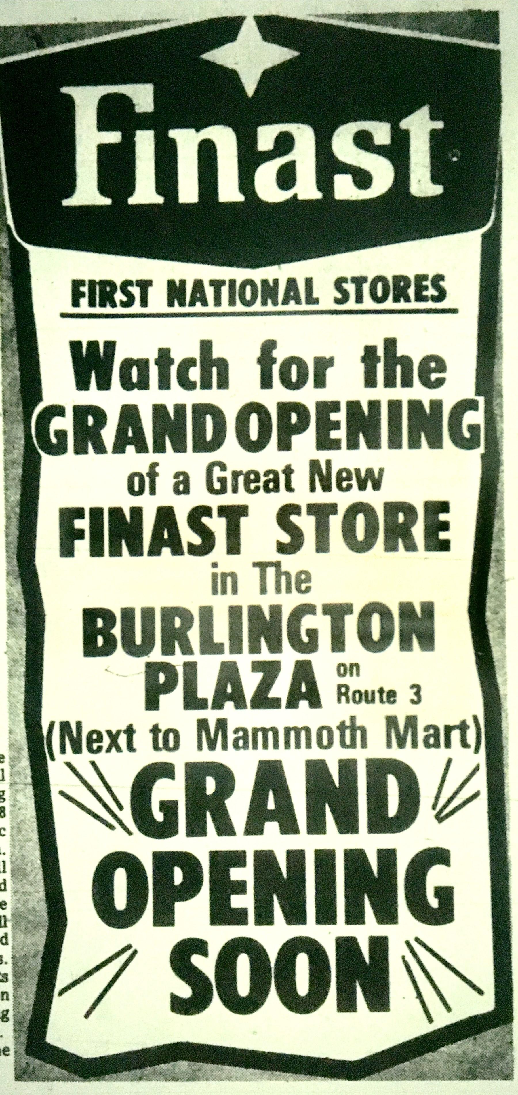 Finast grand opening Burlington MA