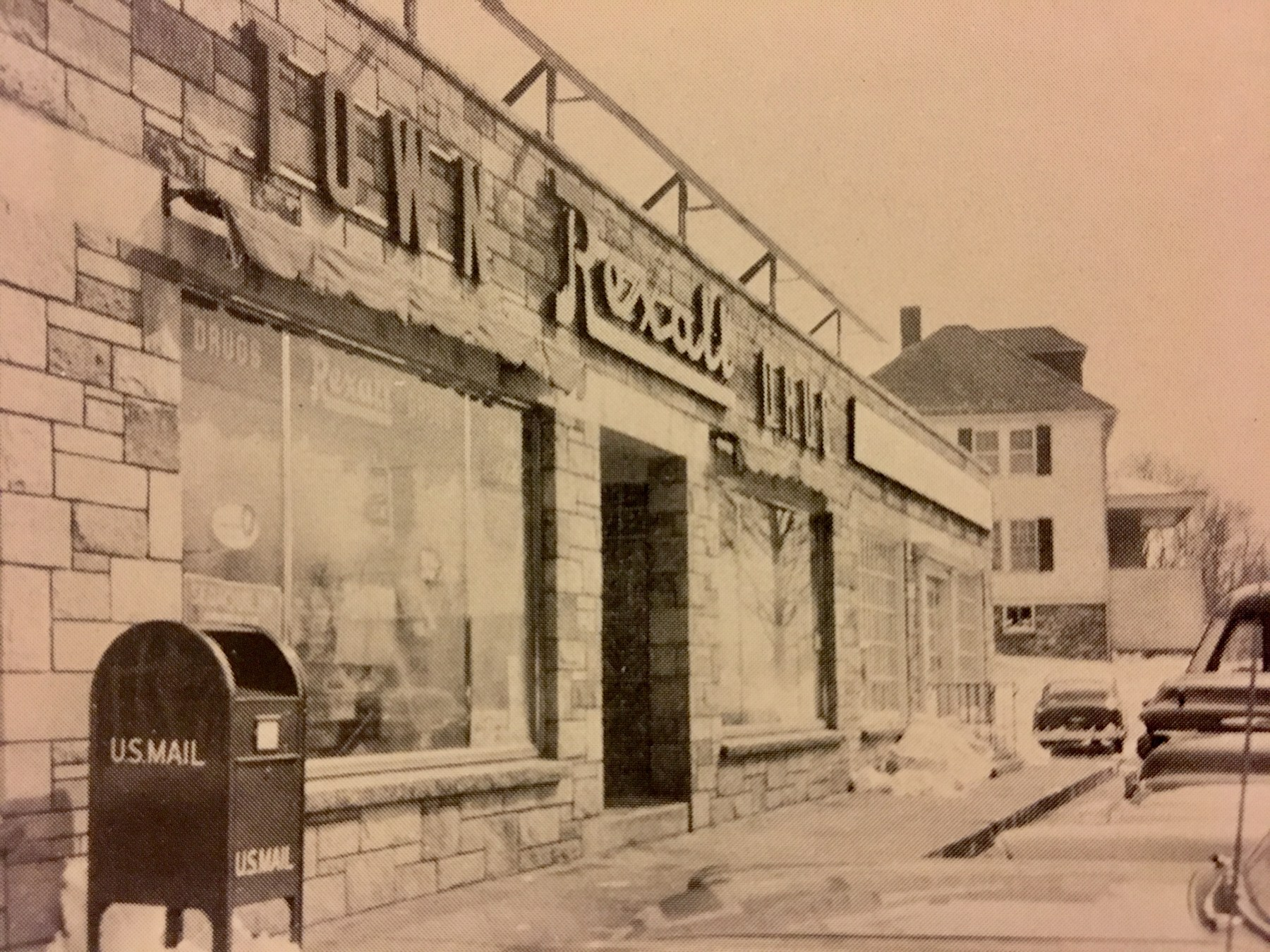 Rexall Drug, Burlington MA, late 1950s
