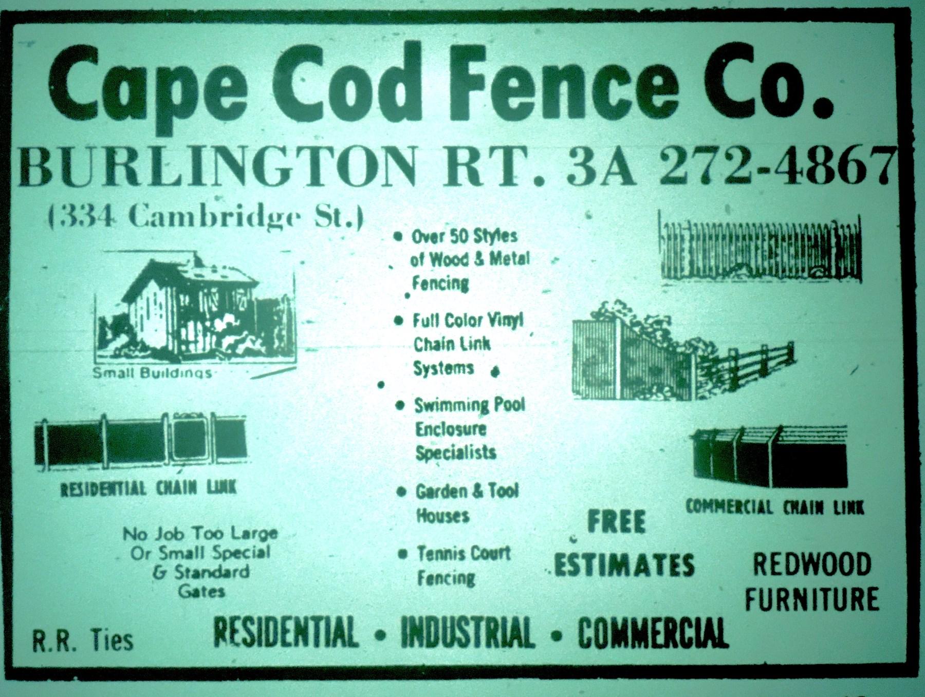 Cape Cod Fence, Burlington MA