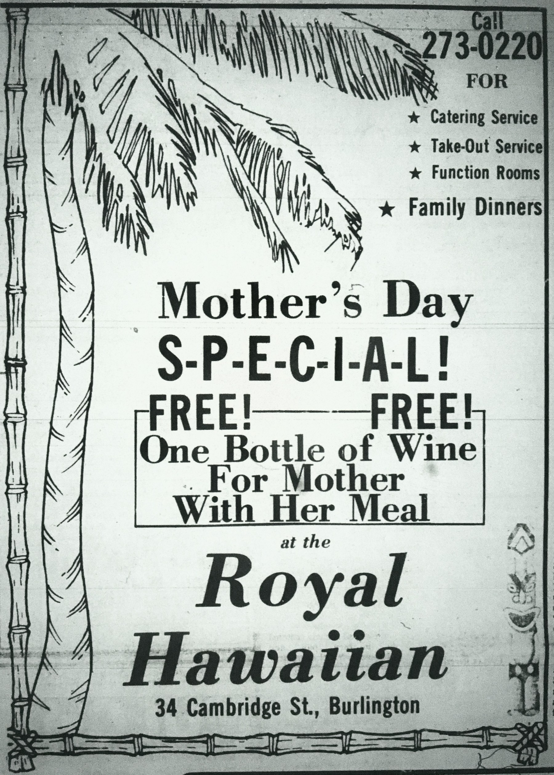 Royal Hawaiian, Burlington MA