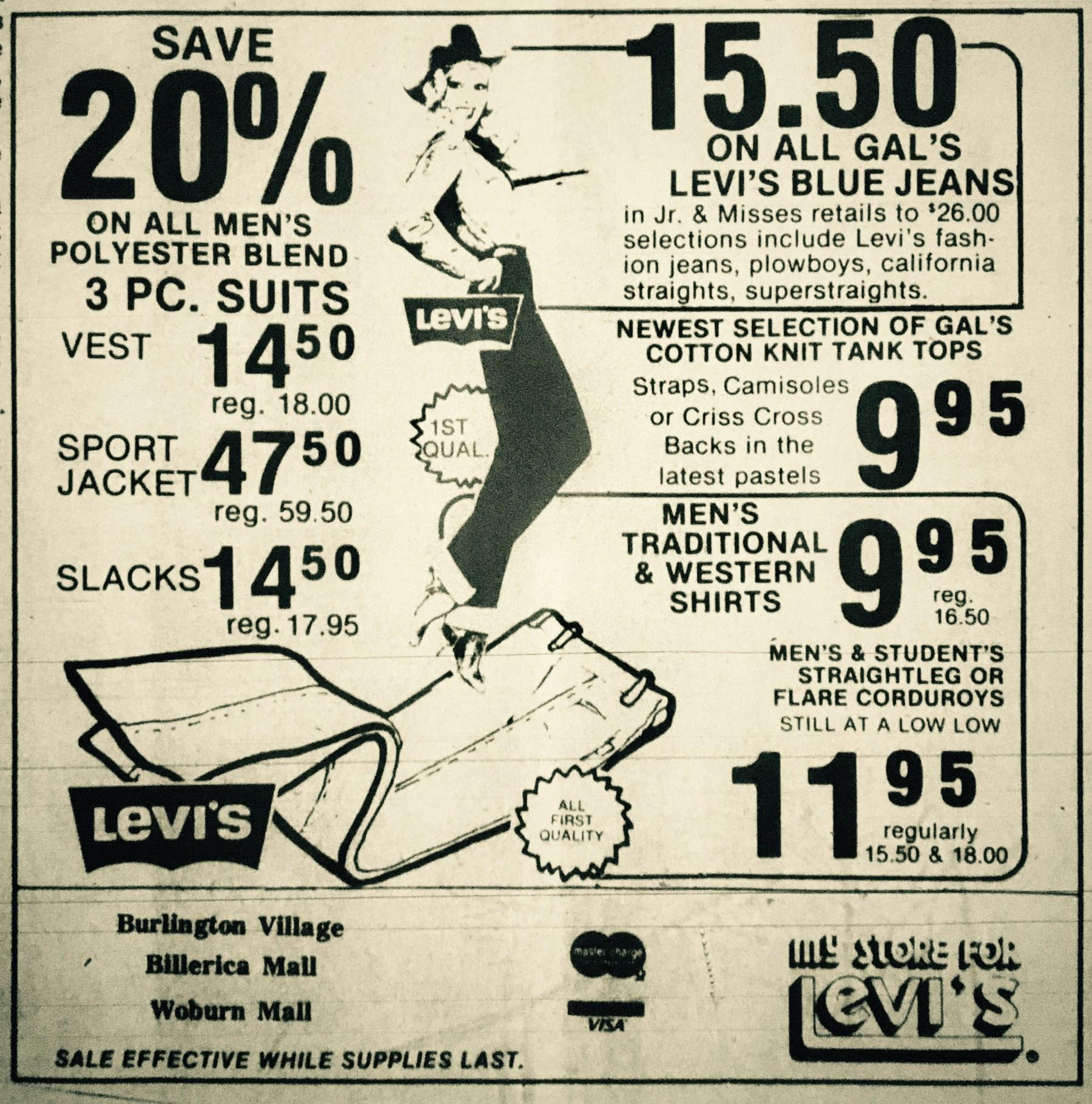 My Store for Levi's, Burlington, MA