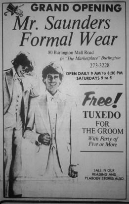 Mr. Saunders Formal Wear, Burlington, MA