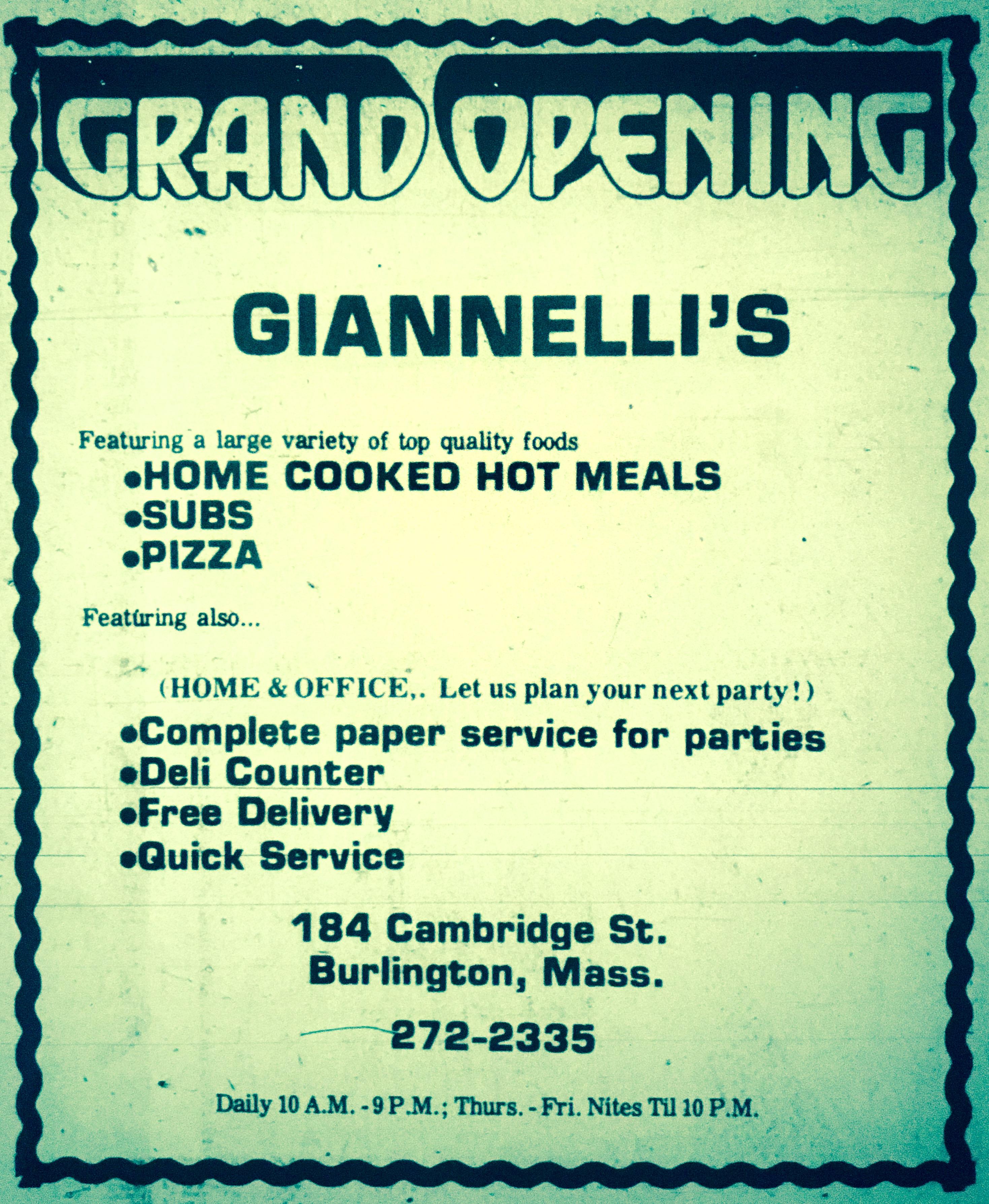 Giannelli's Burlington MA