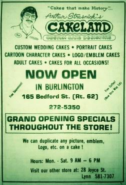Cakeland, Burlington MA