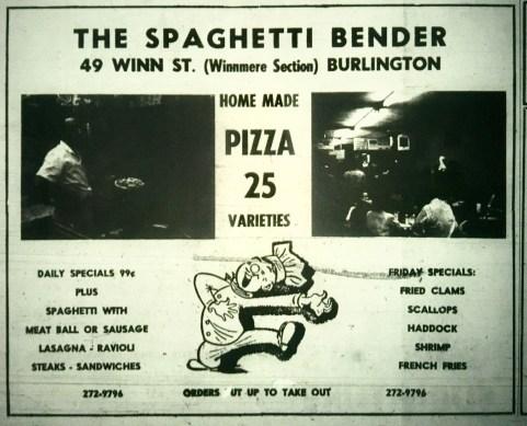 The Spaghetti Bender, Burlington MA