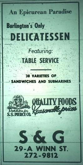 Burlington's only delicatessen