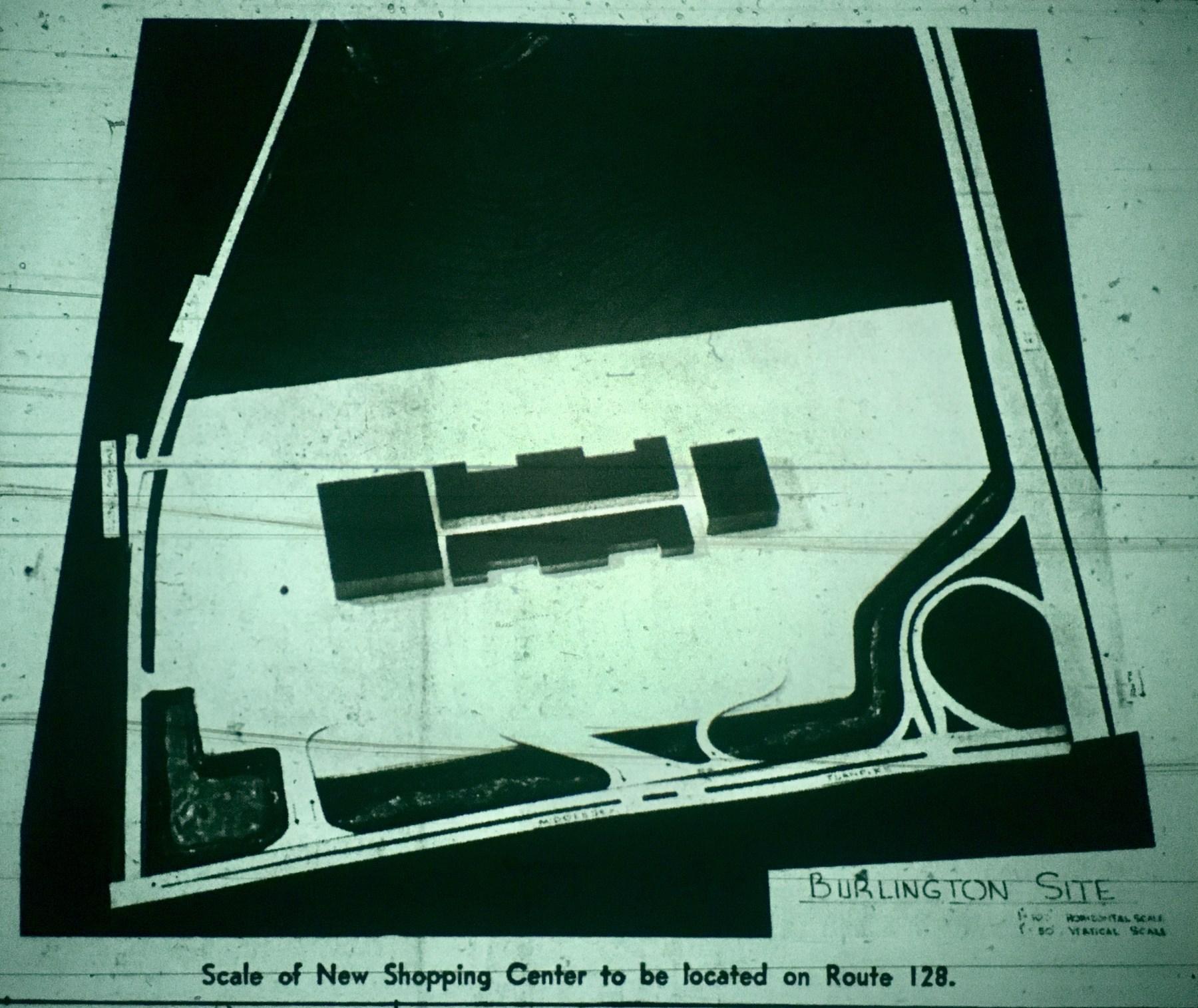 Burlington Mall scale model