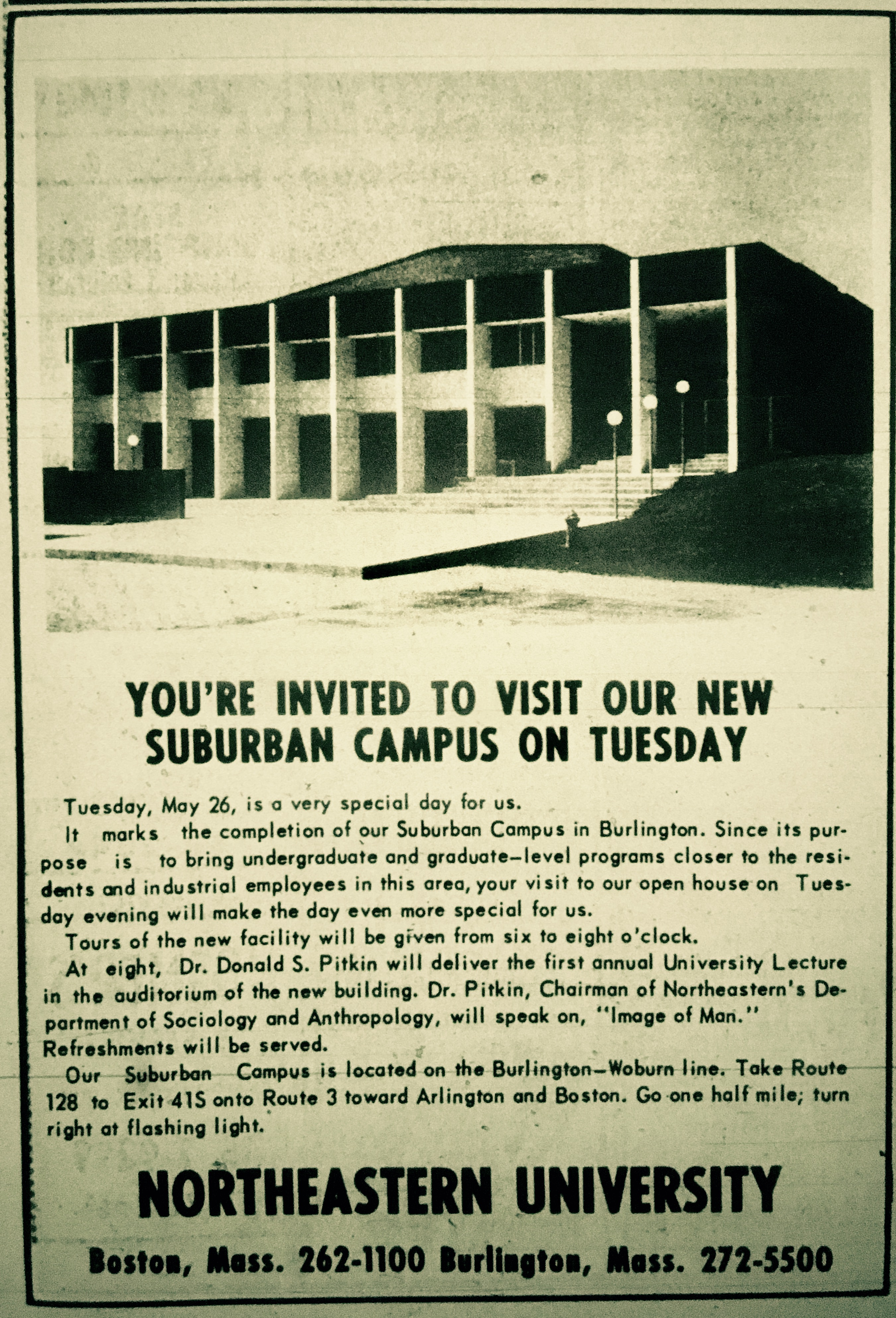 Northeastern University campus Burlington, MA