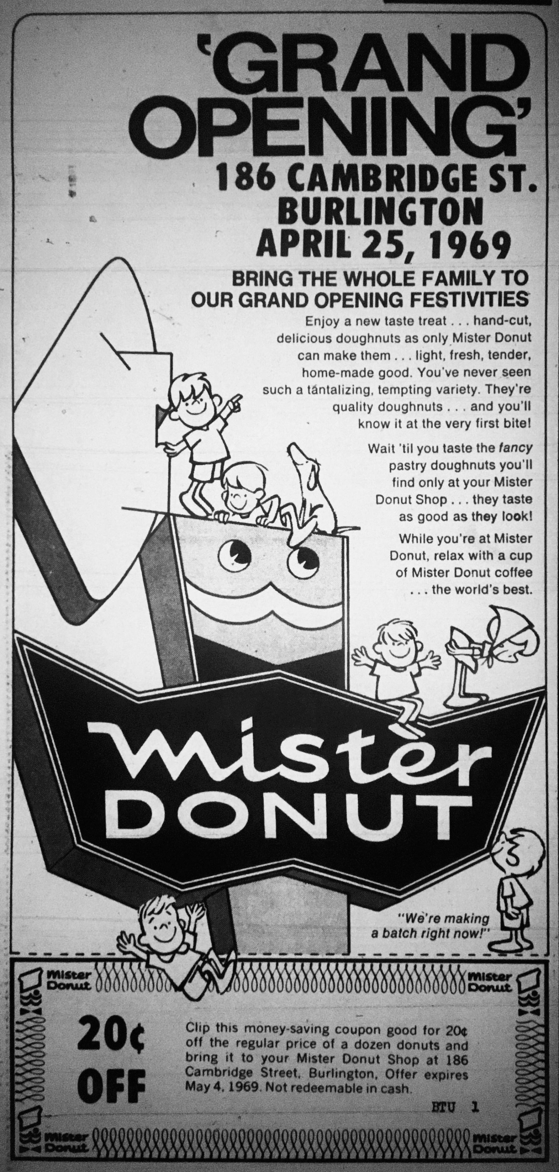 Mister Donut grand opening Burlington