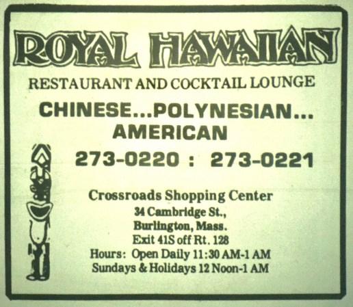 Royal Hawaiian Burlington MA