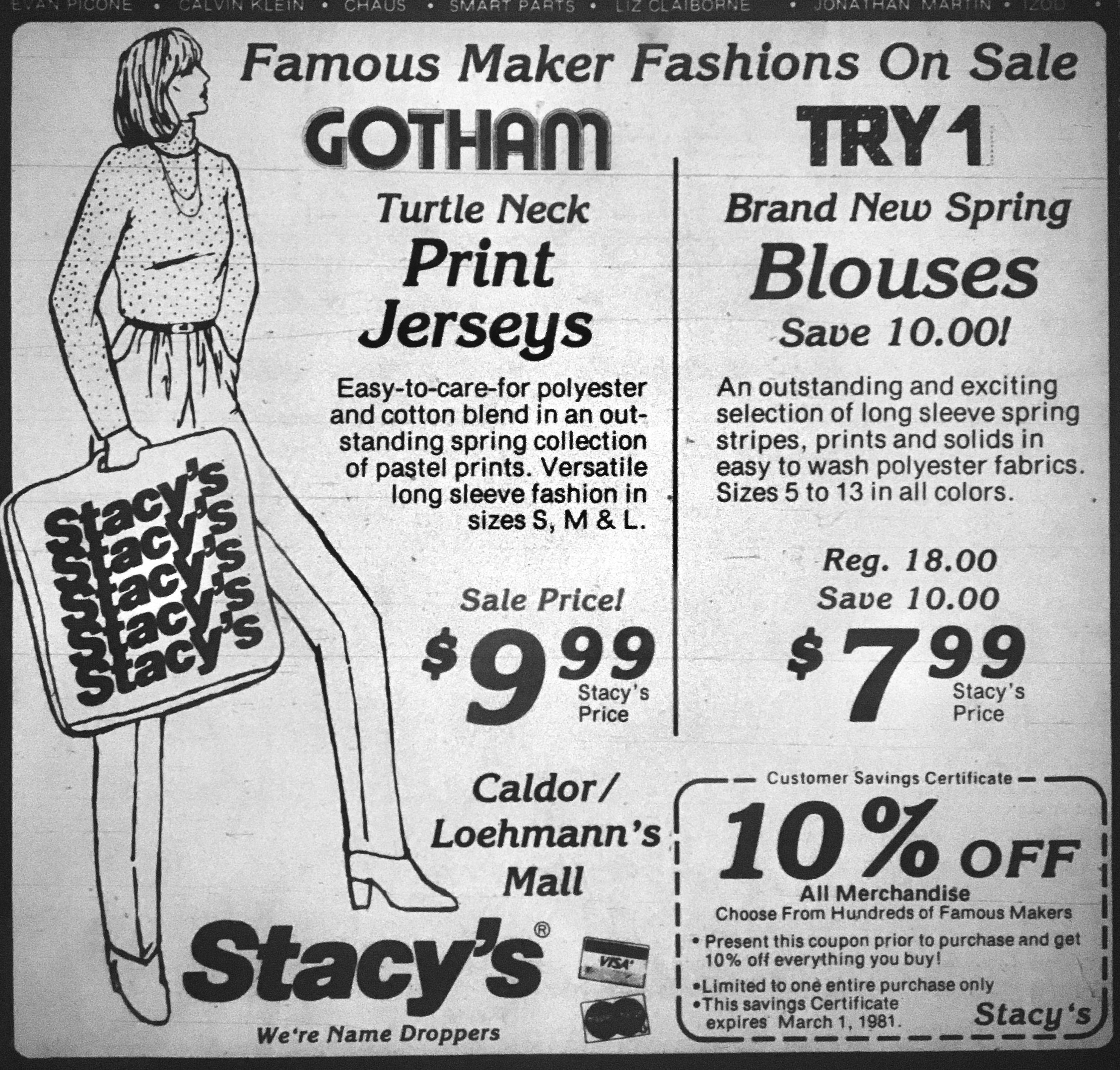 Stacy's, Burlington MA